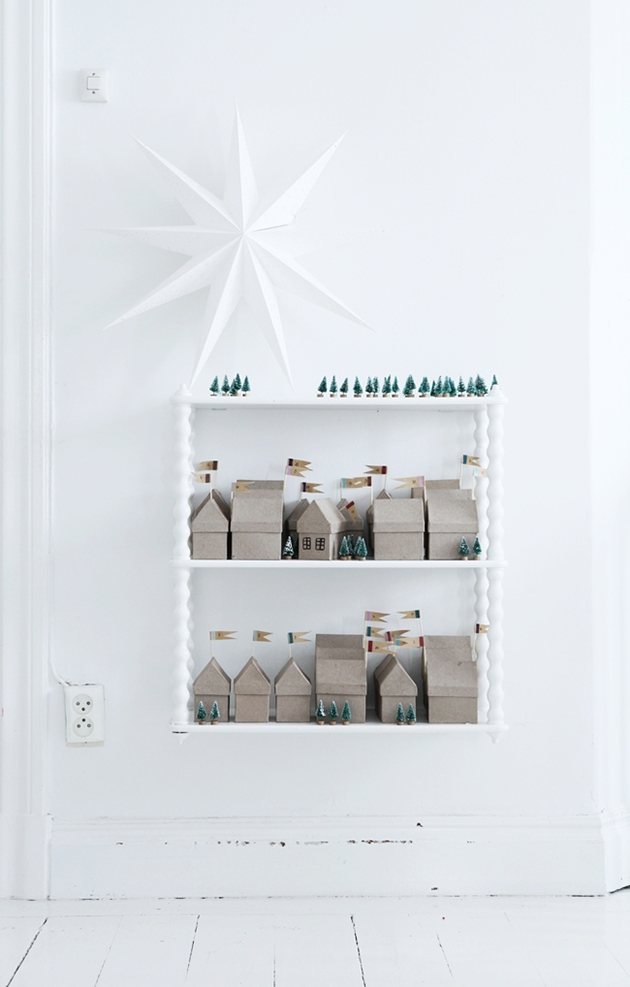 boxed house advent calendar