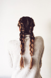 Three Dutch Braid Styles.