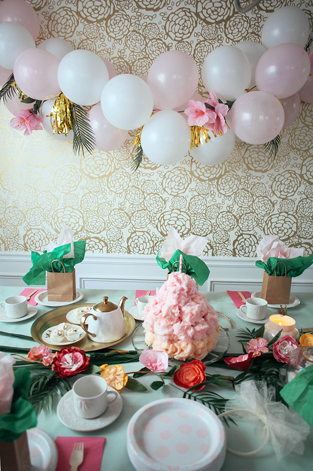 cotton candy tea party