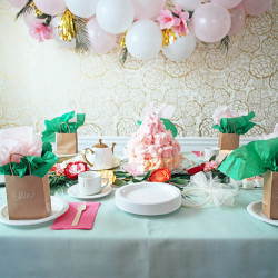 pink and green tea party