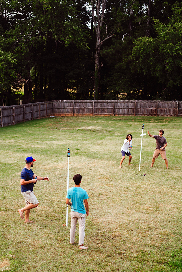DIY Pole-ish Horseshoes yard game