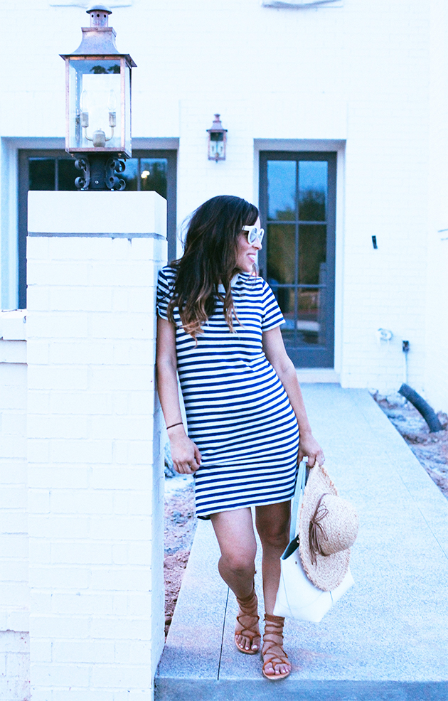 fourth of july striped dress