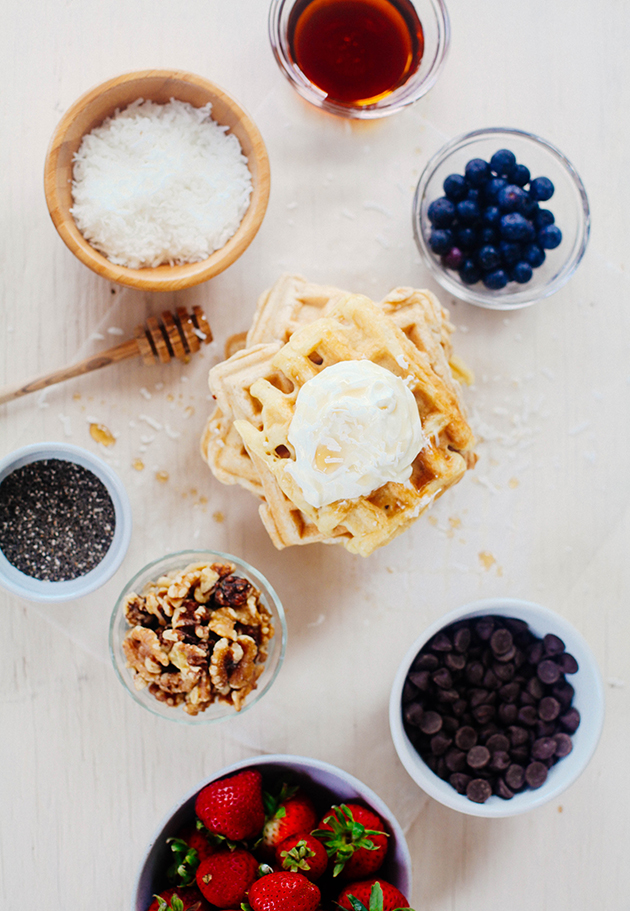 whole ingredient waffle bar