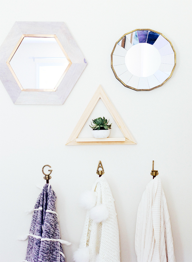 DIY Triangle Wall Planter
