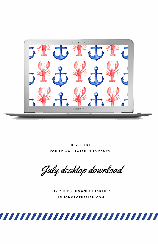 July desktop download - anchors and lobsters
