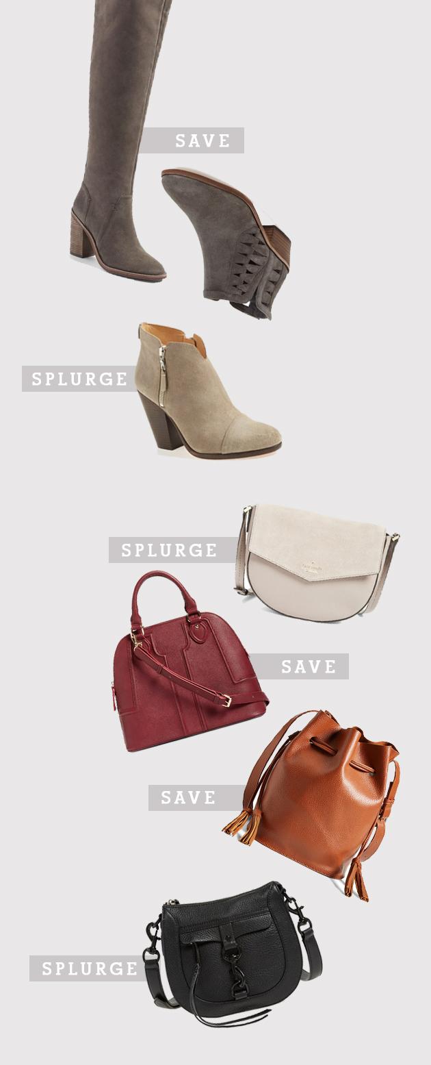 boots and handbags