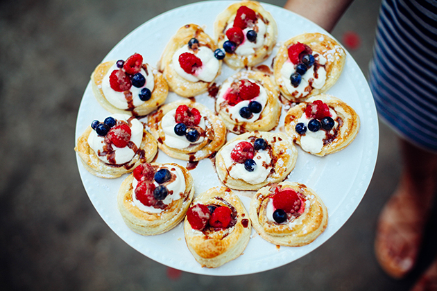 patriotic mini pies