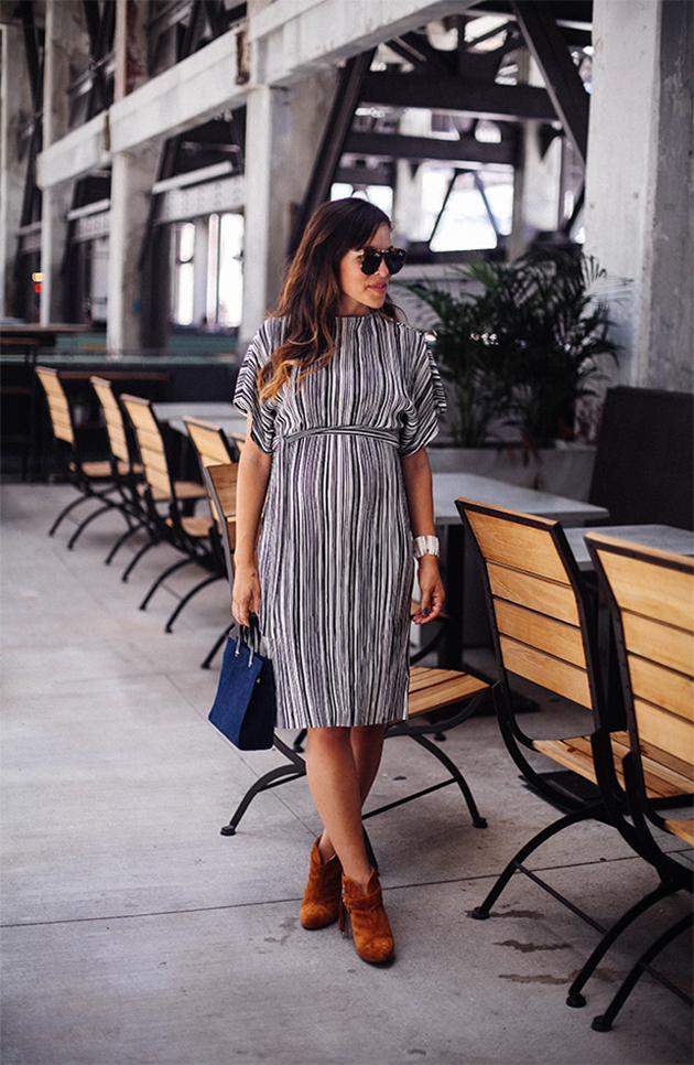 topshop dress | pregnancy style