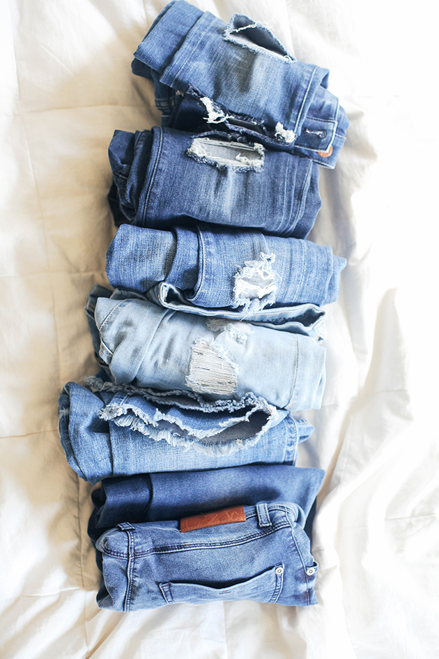 rolls of denim