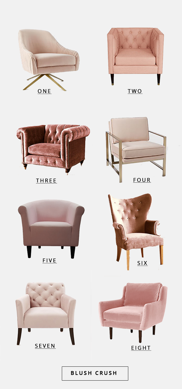 blush pink chair crush