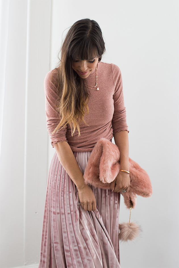 holiday looks: blush pink