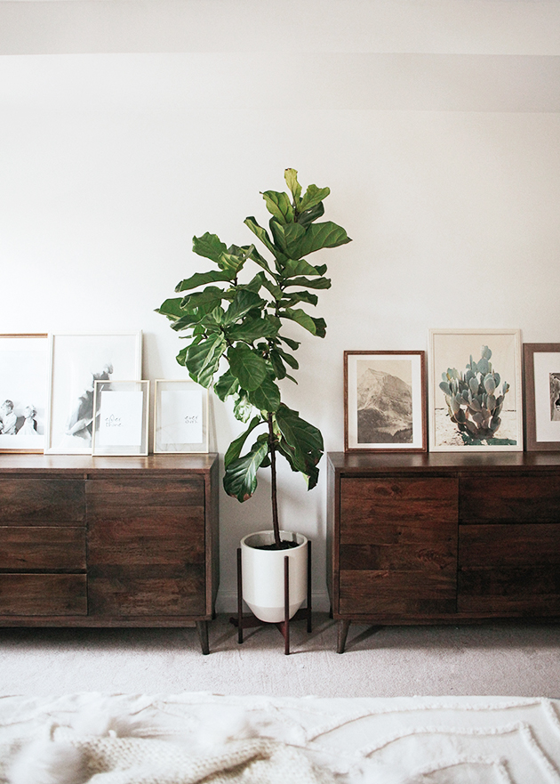 Since our closet size is very small  we decided to go for two midcentury  console tables from Home Decorators Collection to use as dressers. Master Bedroom Makeover