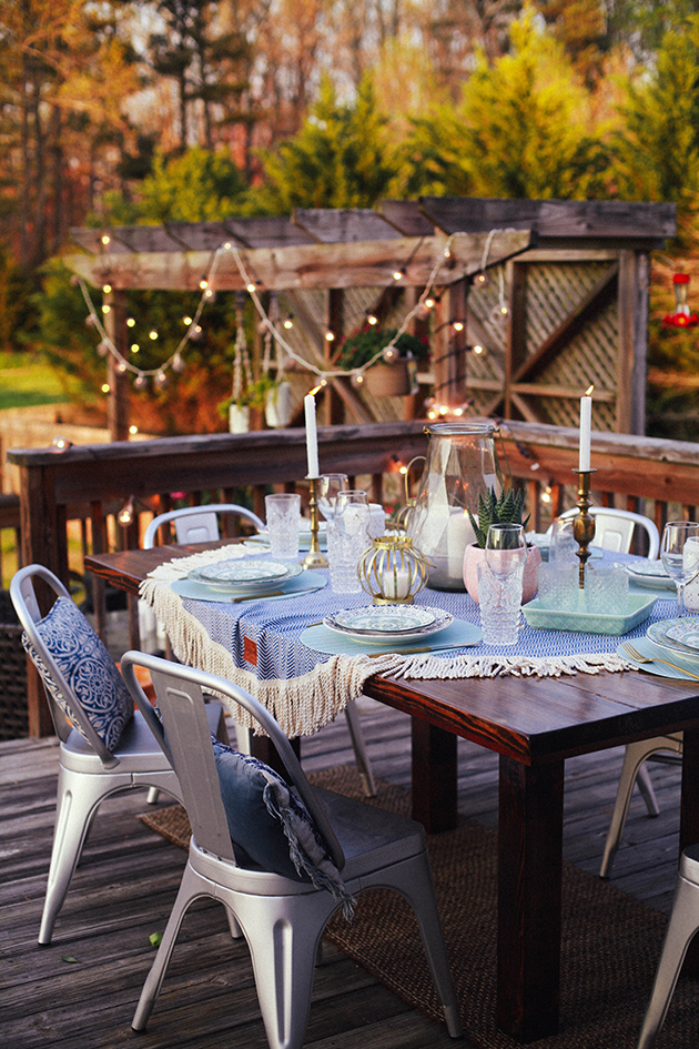 Trend Since we will be having a big crowd for Easter Sunday we will probably be using both our indoor and outdoor dining space What I love about outdoor dining