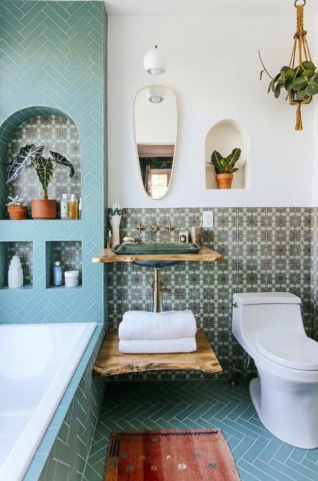 Bathroom + Design By Justina Blakeney
