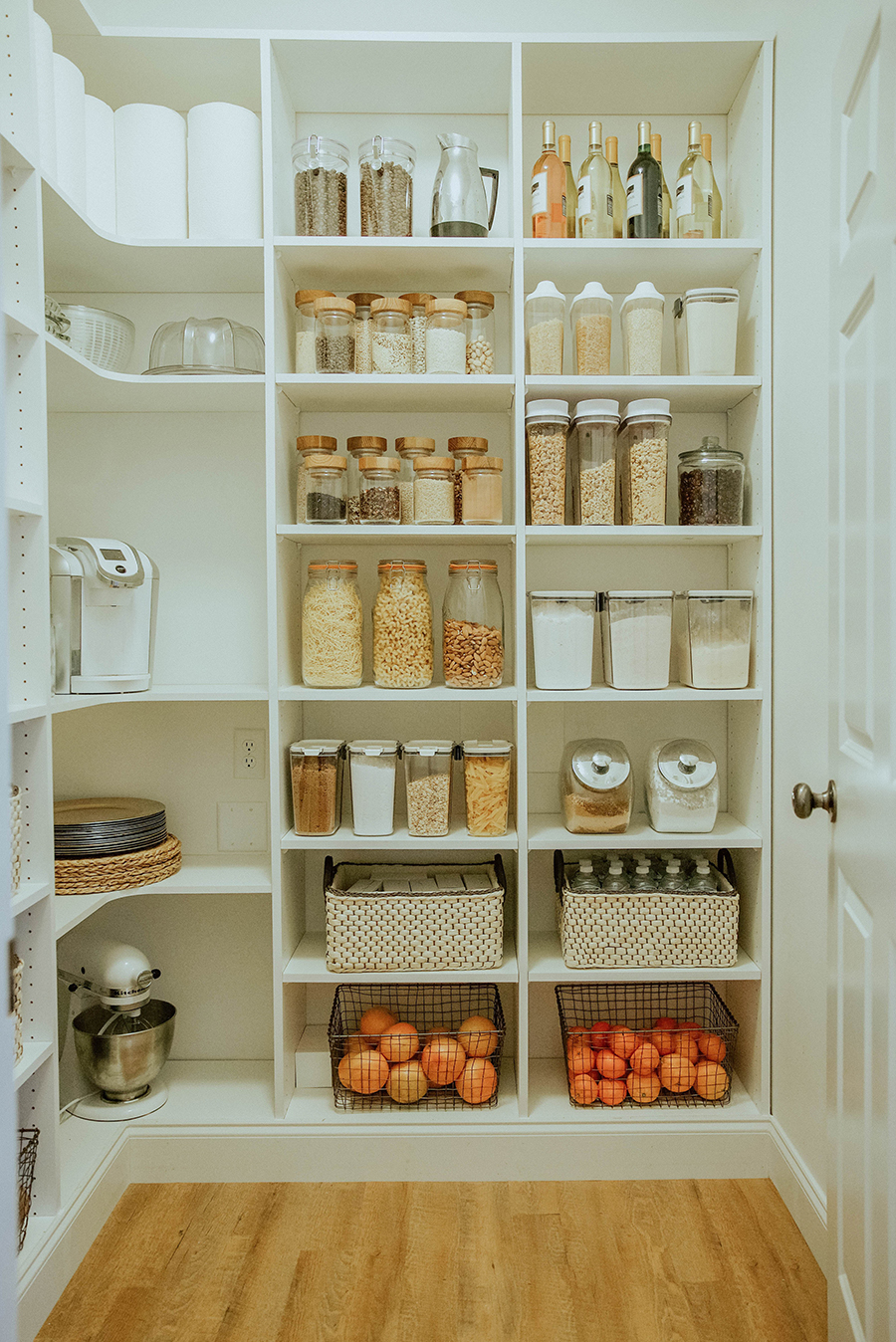 Open Shelving Kitchen Ideas Wood Pantry Shelving Walk In: Laundry Room To Walk-in Pantry Reveal