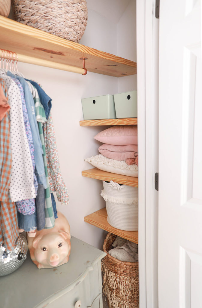 Diy Floating Wood Shelves Clothing Bar In Honor Of Design