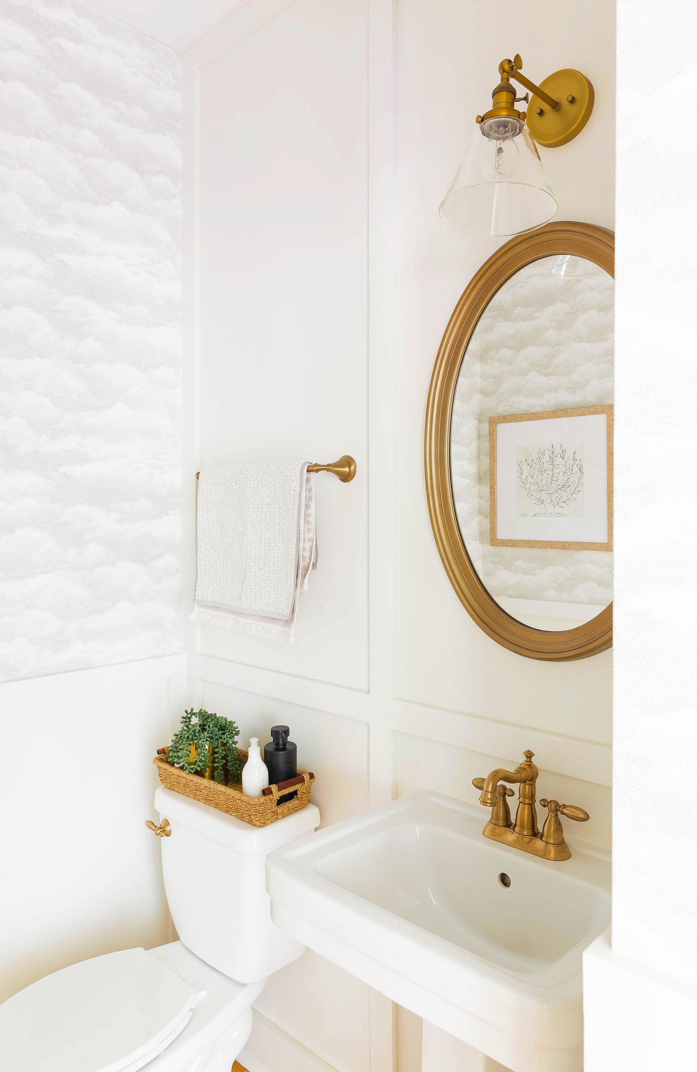 bathroom renovation, powder room makeover