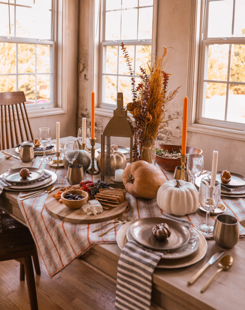 autumn dinner table place setting - In Honor of Design