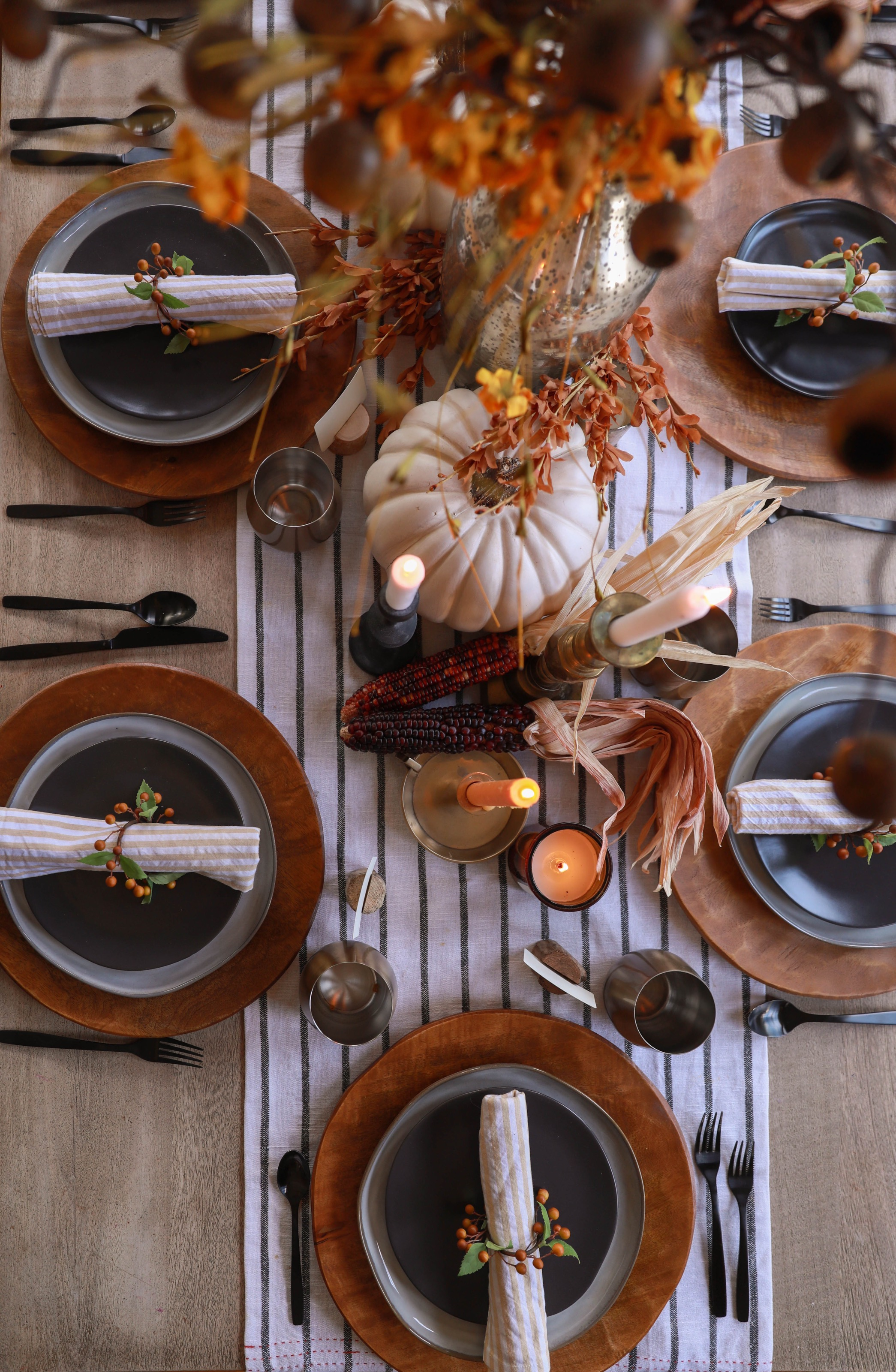 Autumn Table Setting Ideas In Honor Of Design