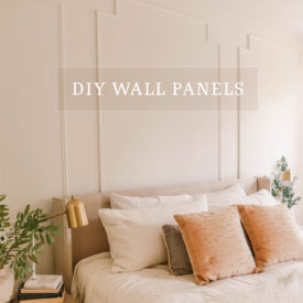 DIY wall panels - wainscoting