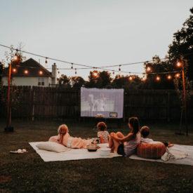 outdoor movie projectors