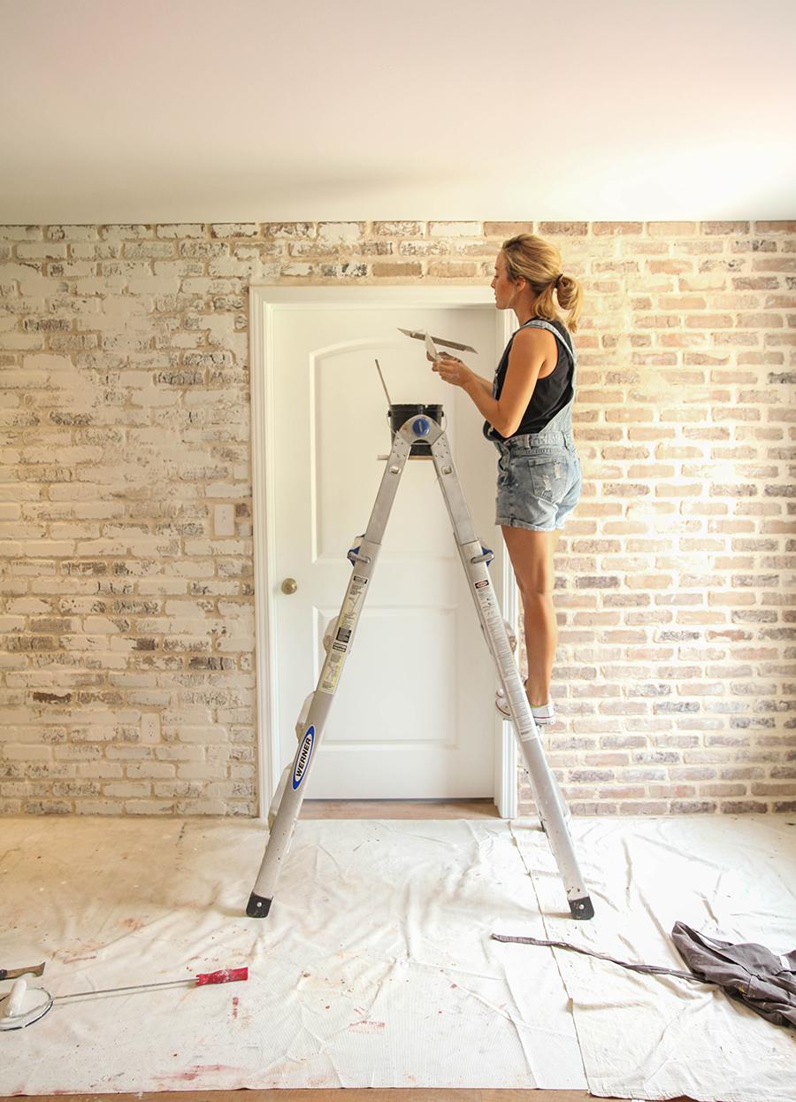 DIY brick wall