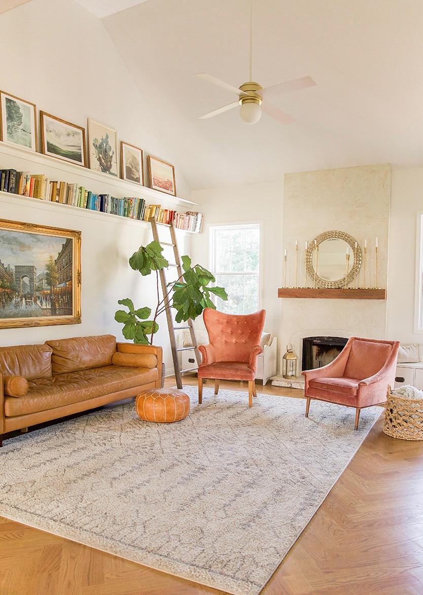 living room design - diy bookshelves