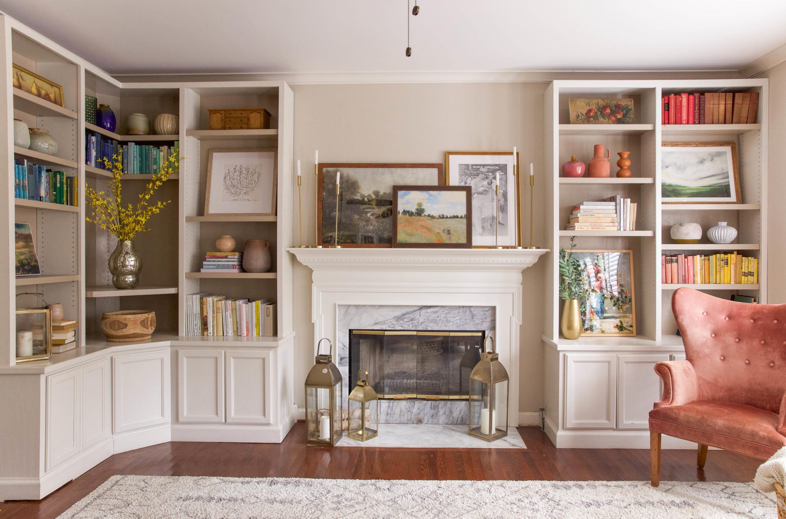 open bookshelves - design by IHOD