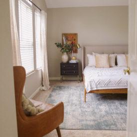 master bedroom design - platform bed