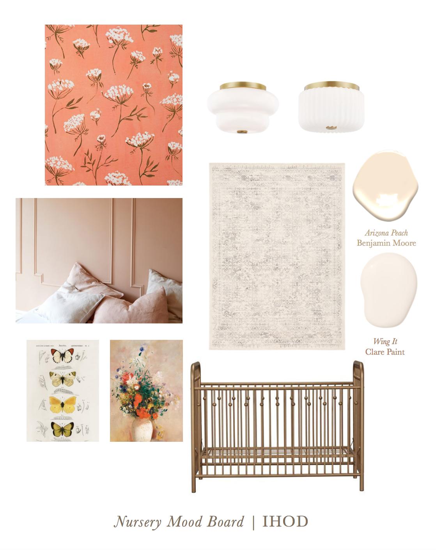 nursery design - mood board