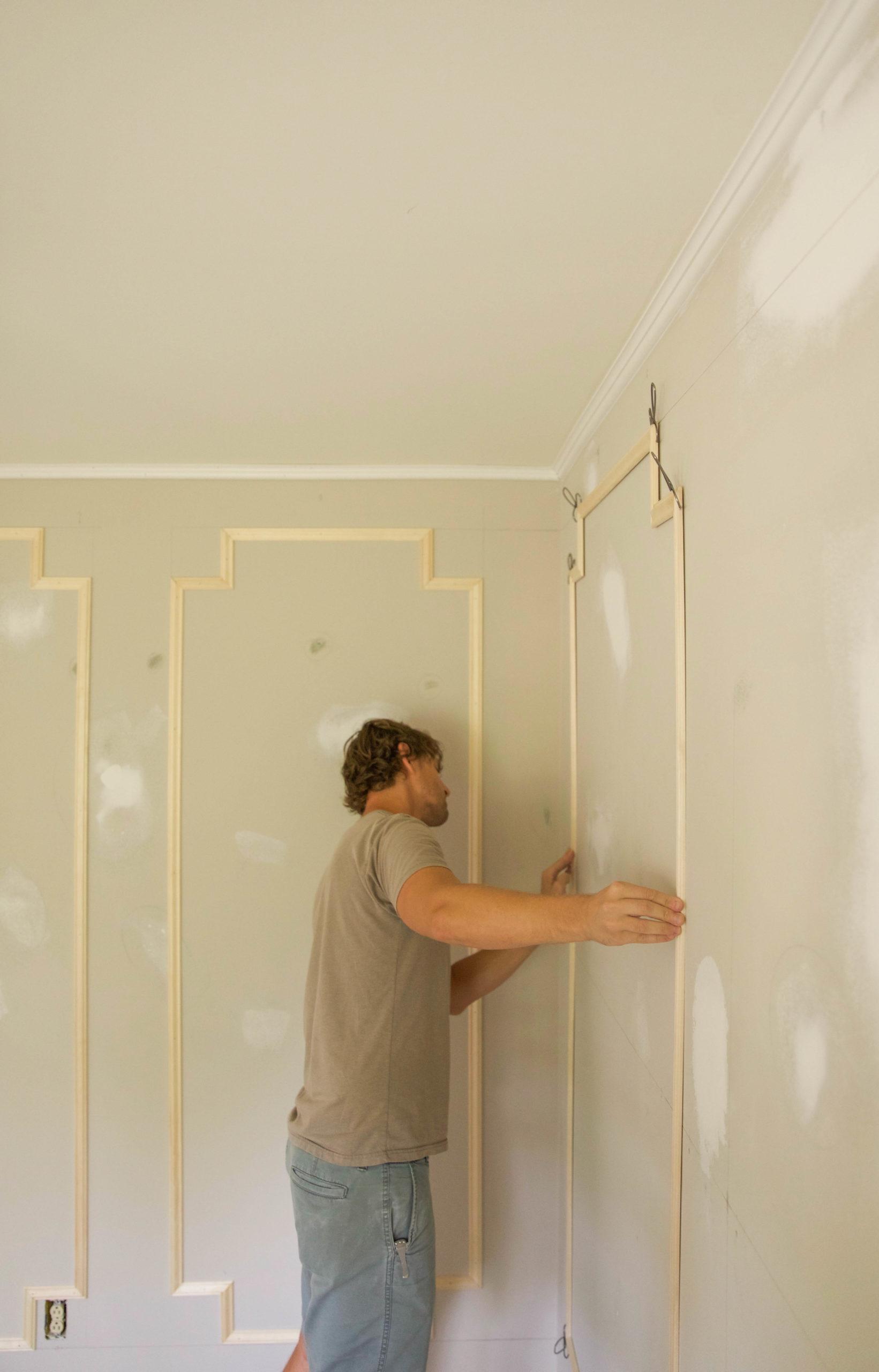 DIY wall moulding
