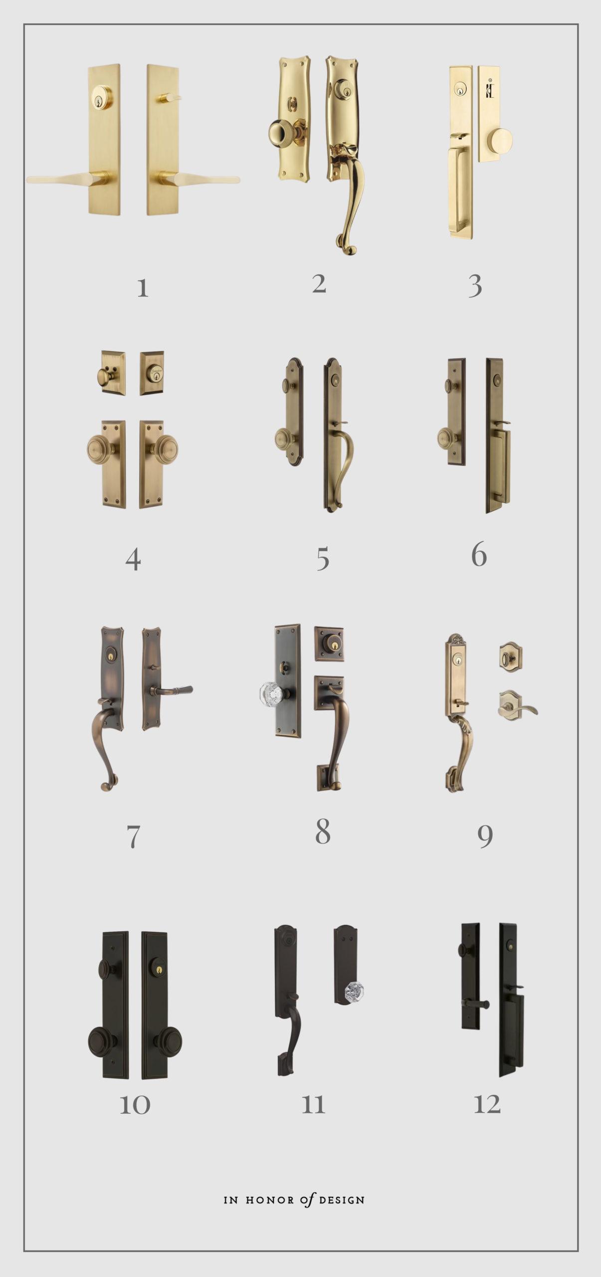 entry set doorknob handles