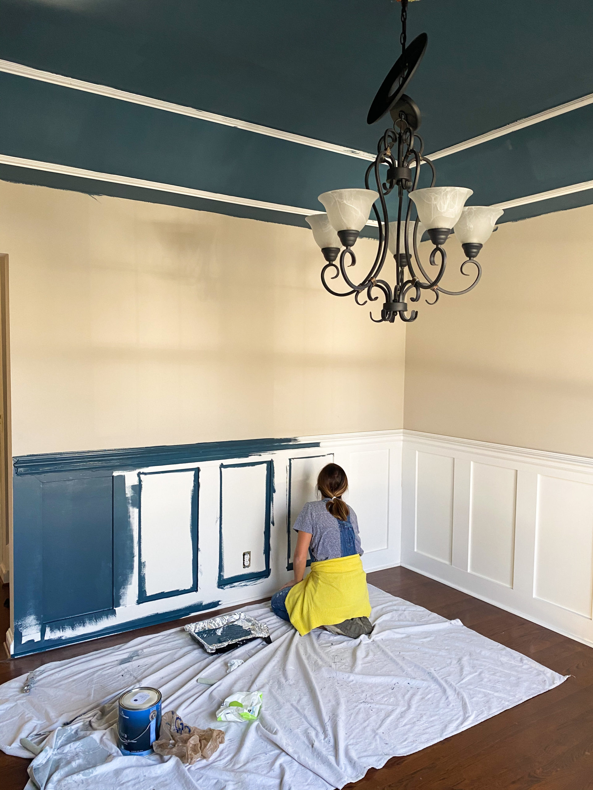 dining room - in the midnight hour - benjamin moore