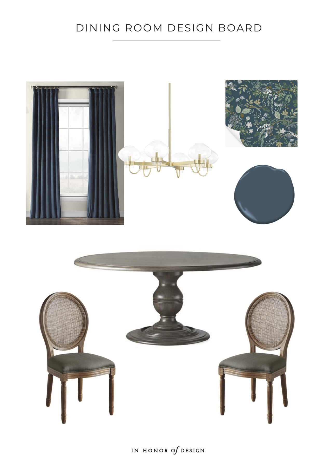 dining room design board - IHOD