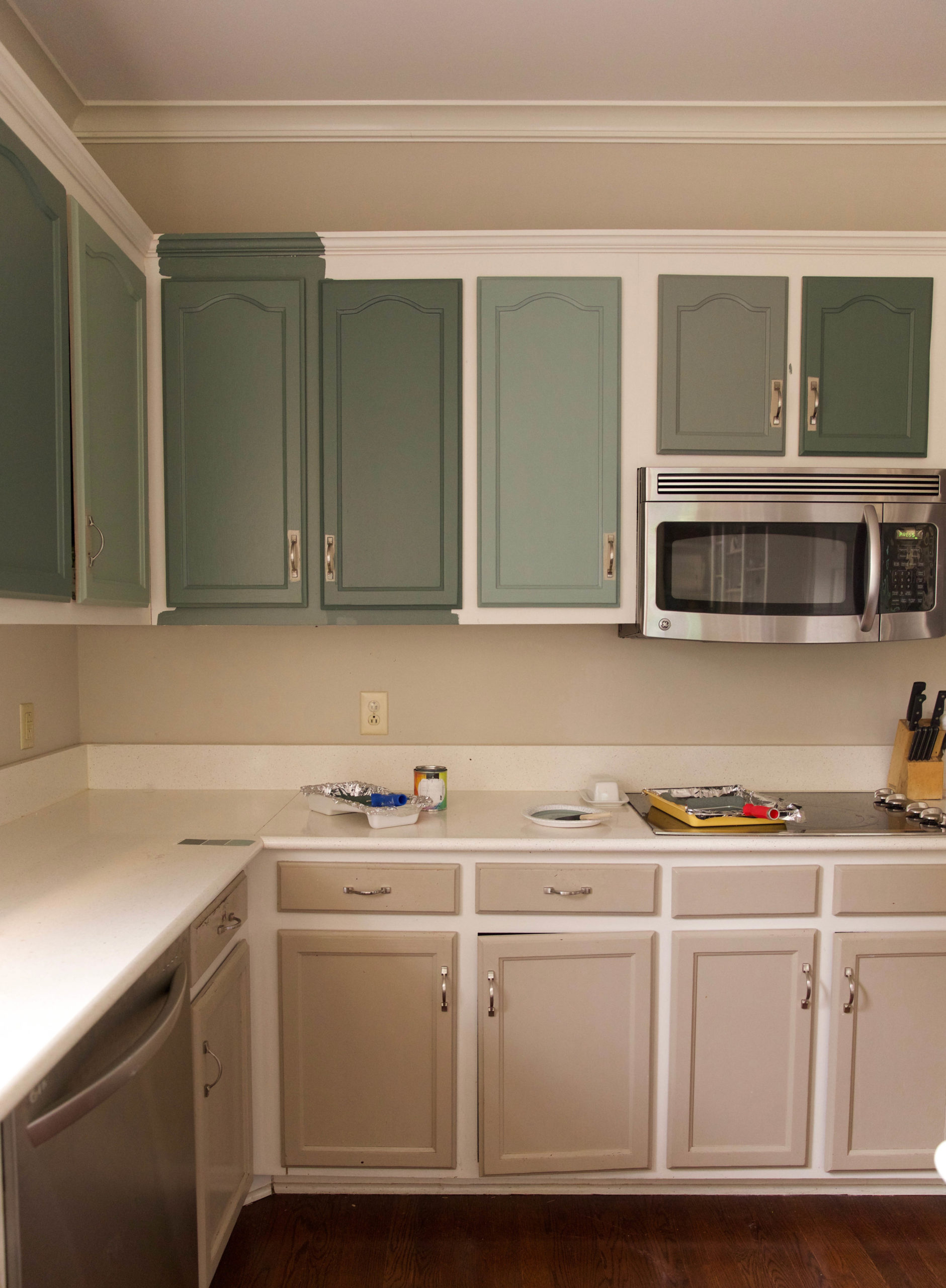 Green cabinet paint colors - IHOD