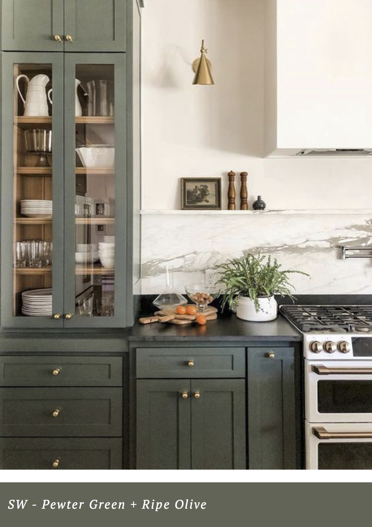sherwin williams pewter green and dark olive