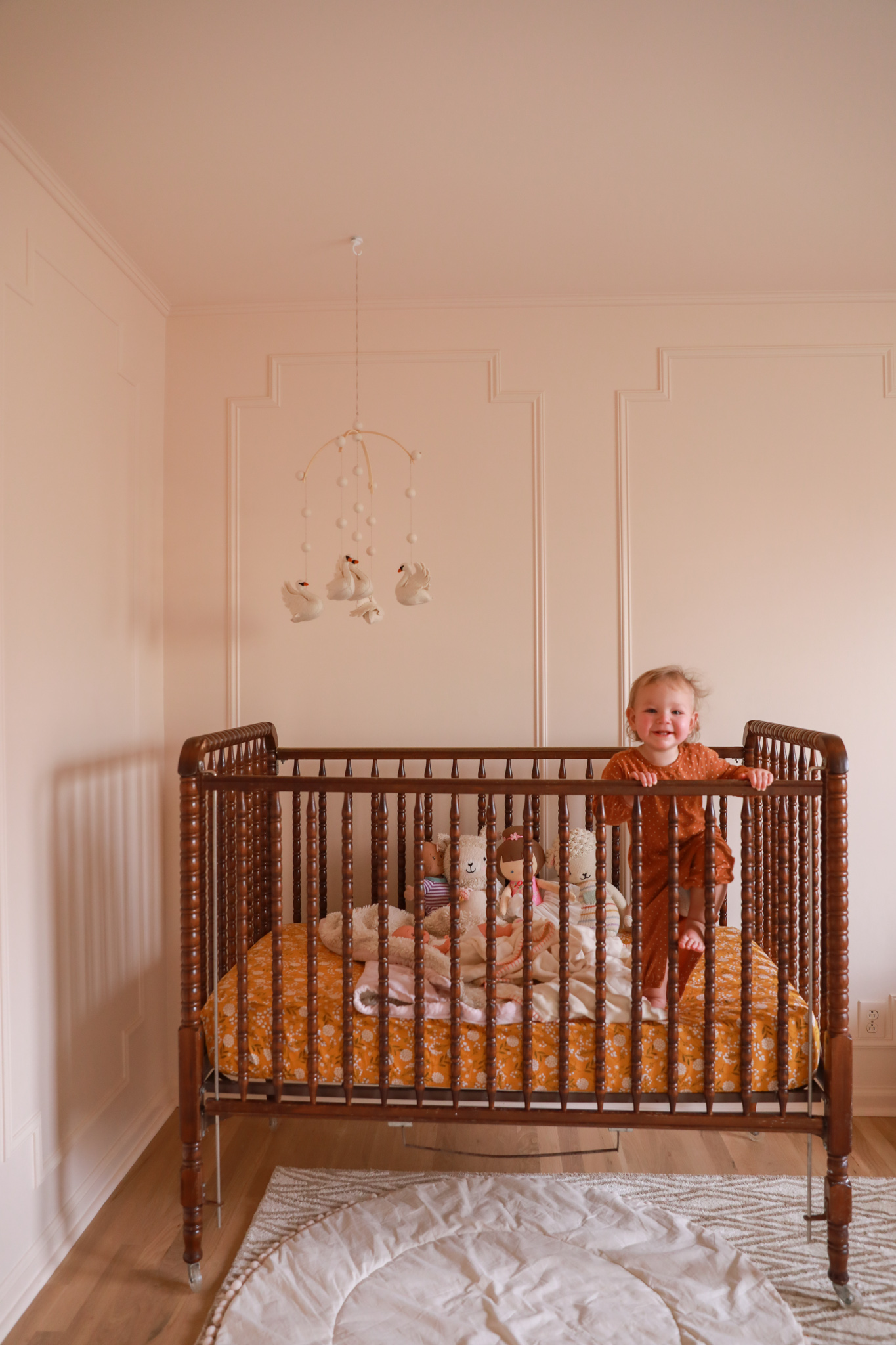 vintage crib nursery design