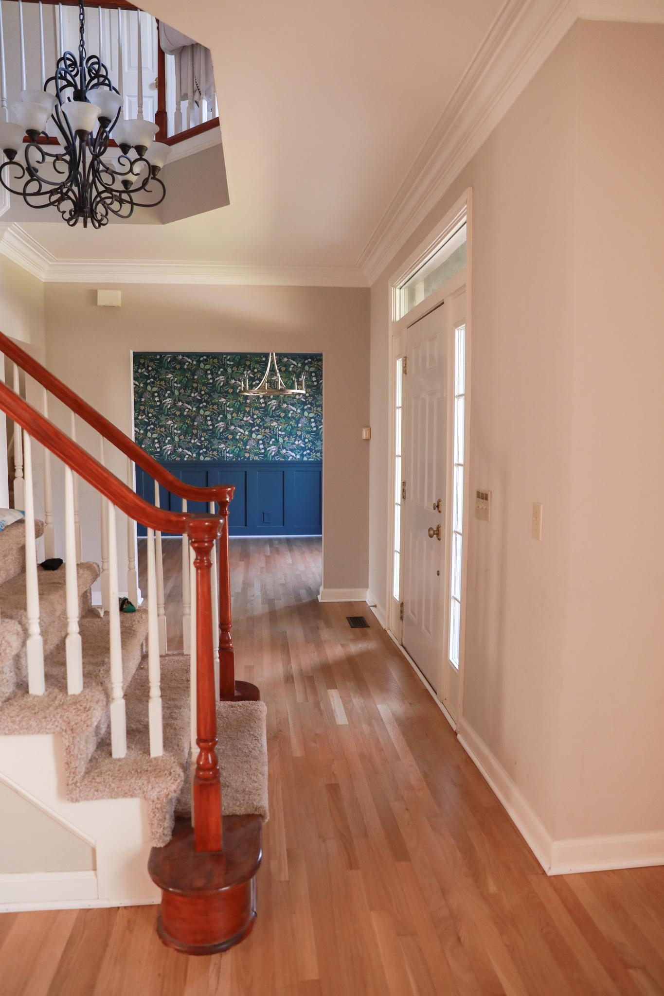 White oak hardwood floors - entry