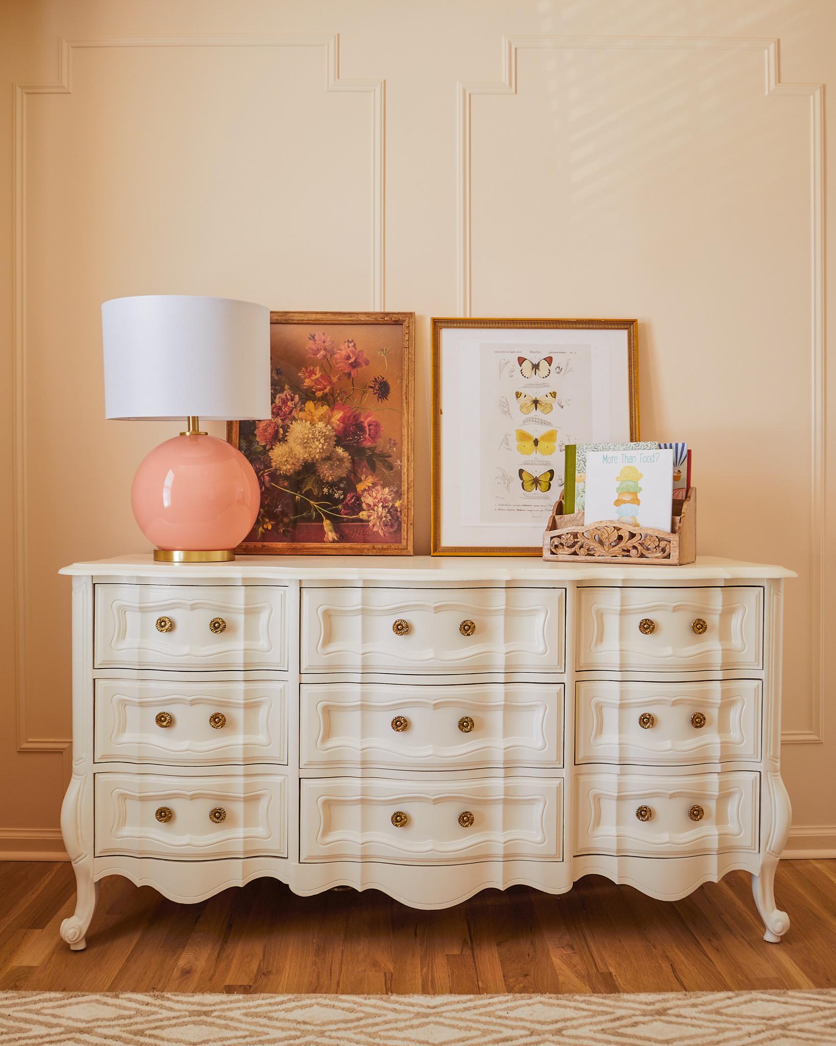 dresser makeover, nursery design