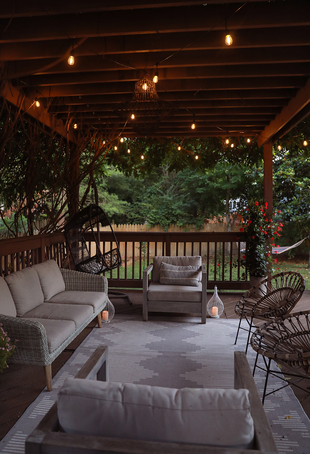 back patio design - patio furniture
