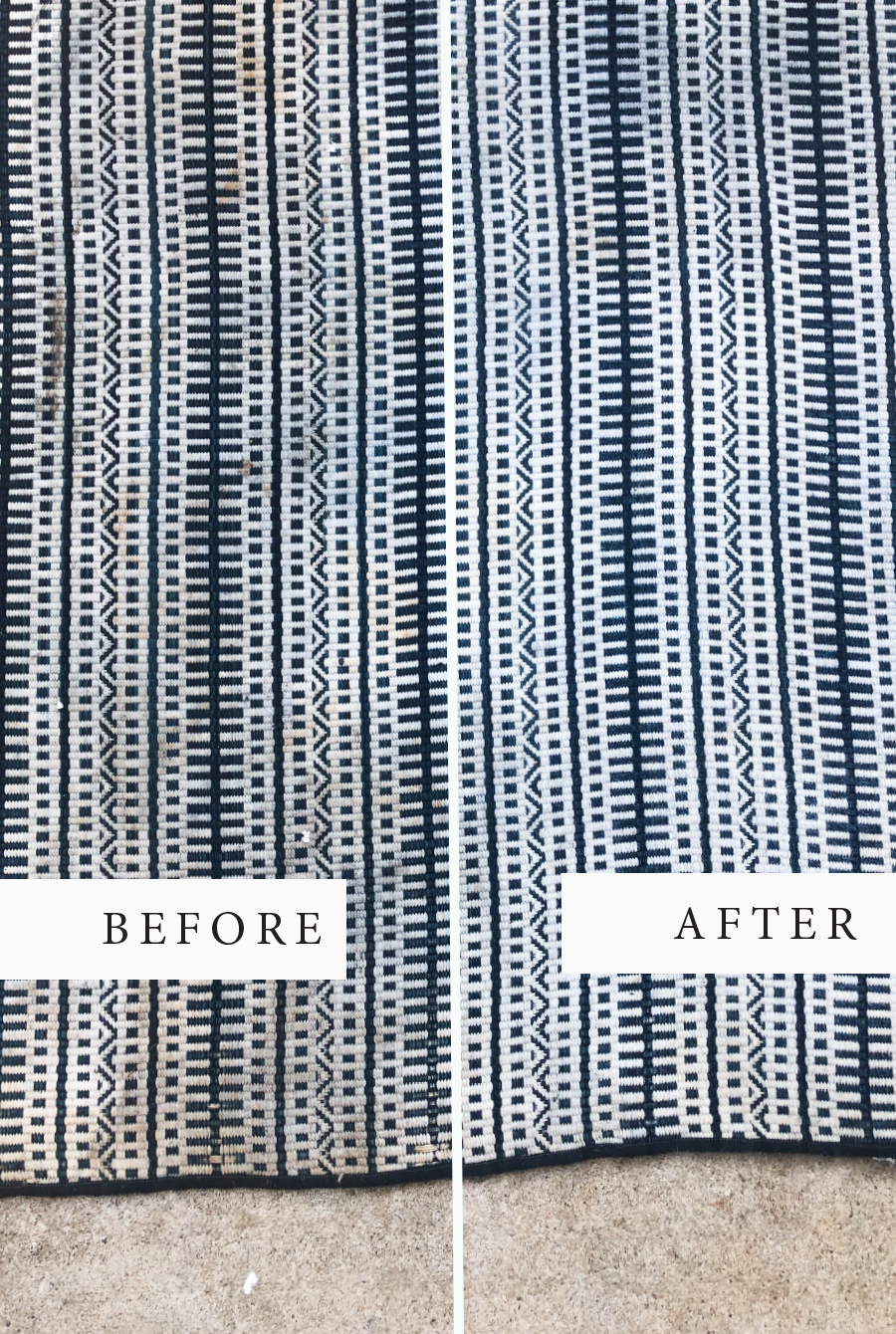 how to clean an outdoor rug