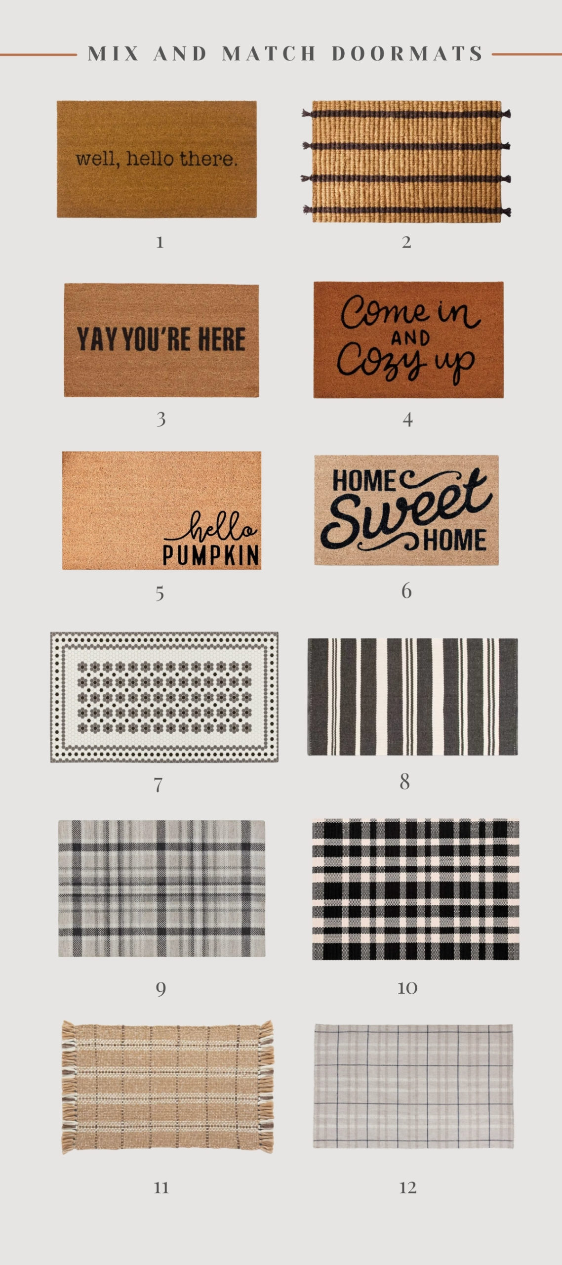 doormats and outdoor rugs for fall