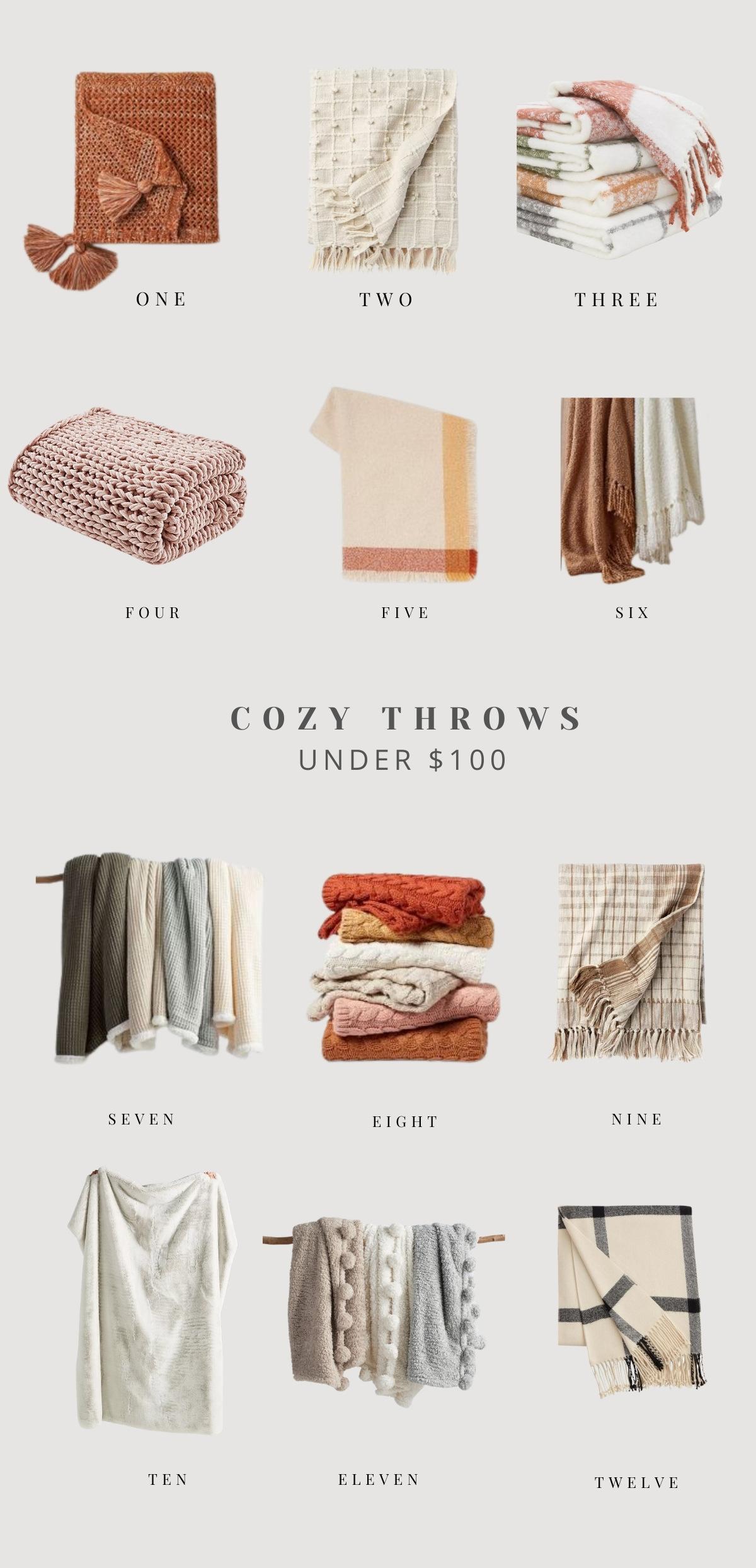 cozy throws under $100