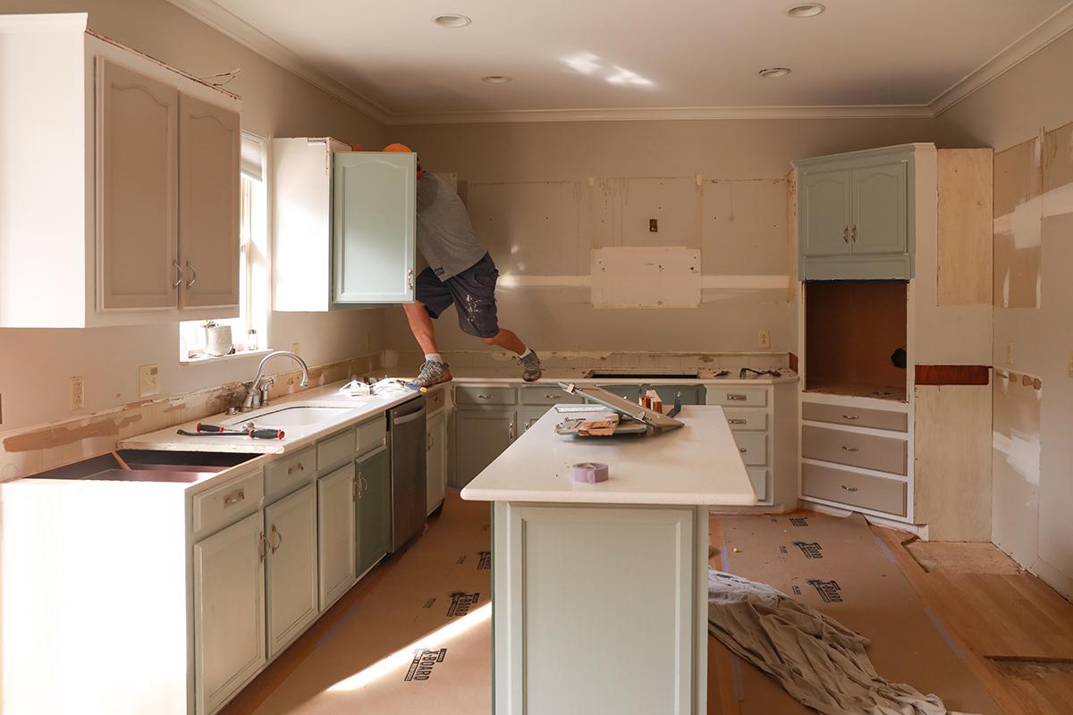 kitchen demo - renovation